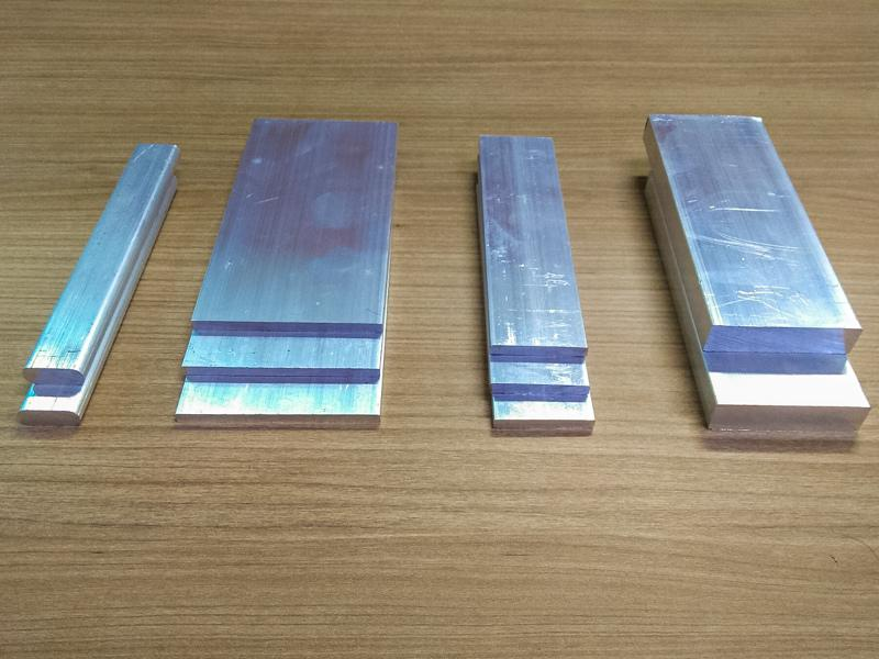 Barra chata de aluminio