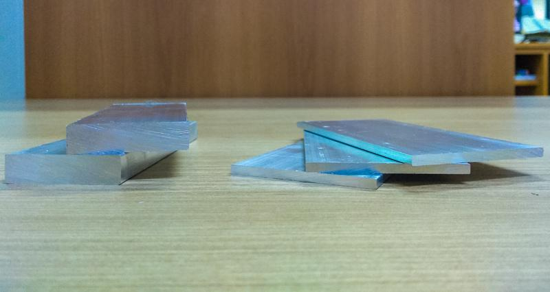 Barra chata de aluminio sp