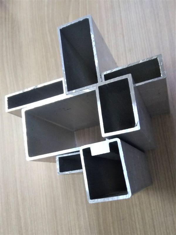 Tubo de alumínio retangular industrial